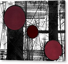 Circular Lines Acrylic Print by Andres Carbo