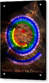 Circular Periodic Table Of The Elements Acrylic Print by Carol and Mike Werner