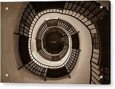 Circular Staircase In The Granitz Hunting Lodge Acrylic Print by Andreas Levi