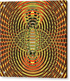 Circular Wave Interference Acrylic Print