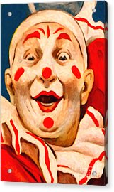 Circus Clown - 2012-1230 - Painterly Acrylic Print by Wingsdomain Art and Photography