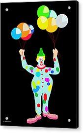 Circus Clown With Balloons Acrylic Print