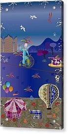 Circus Juggler Acrylic Print