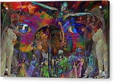 Solar Mind Acrylic Print by Joseph Mosley