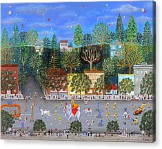 Circus Parade Two Acrylic Print by Linda Mears
