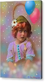 Circus Pixie Acrylic Print by Karen Morley