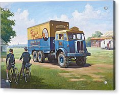Circus Truck Acrylic Print by Mike  Jeffries