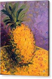 Cirdling Yellow Acrylic Print