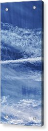 Cirrus Clouds And Contrails Acrylic Print by Babak Tafreshi