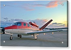 Acrylic Print featuring the photograph Cirrus Vision Sf50 by Jeff Cook