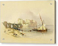 Citadel Of Sidon Acrylic Print by David Roberts