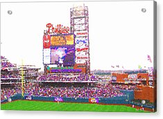 Citizen's Bank Park Acrylic Print by Barbara Hammond