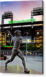 Citizens Bank Park - Mike Schmidt Statue Acrylic Print by Bill Cannon