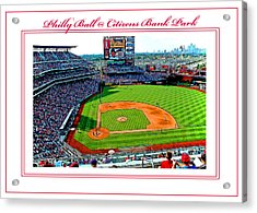 Citizens Bank Park Phillies Baseball Poster Image Acrylic Print