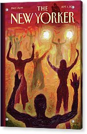 Citizens Hold Their Arms Up To Protest Acrylic Print