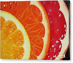Citrus Hue Acrylic Print by Kayleigh Semeniuk