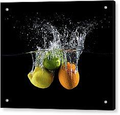 Citrus Splash Acrylic Print by Mogyorosi Stefan