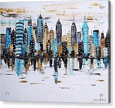 City Abstract Acrylic Print by Jolina Anthony