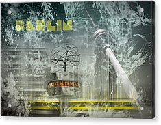 City-art Berlin Alexanderplatz  Acrylic Print by Melanie Viola