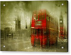 City-art London Red Buses Acrylic Print