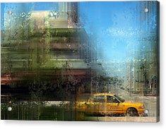 City-art Miami Beach Acrylic Print by Melanie Viola