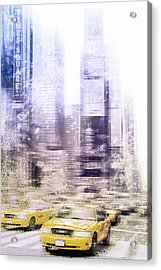 City-art Times Square I Acrylic Print by Melanie Viola