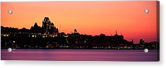 City At Dusk, Chateau Frontenac Hotel Acrylic Print