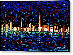 City At Night-2 Acrylic Print by Anand Swaroop Manchiraju