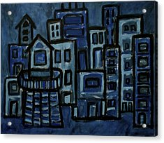 City At Night Acrylic Print
