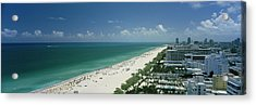 City At The Beachfront, South Beach Acrylic Print by Panoramic Images