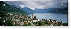 City At The Lakeside, Lake Lucerne Acrylic Print by Panoramic Images