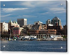 City At The Waterfront, Inner Harbor Acrylic Print