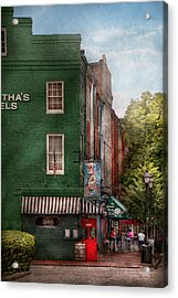 City - Baltimore - Fells Point Md - Bertha's And The Greene Turtle  Acrylic Print by Mike Savad