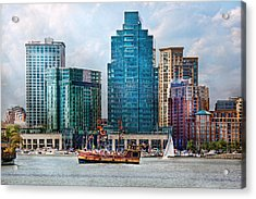 City - Baltimore Md - Harbor East  Acrylic Print by Mike Savad