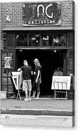 City - Baltimore Md - Tag Galleries  Acrylic Print by Mike Savad