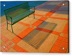 City Bench Still Life Acrylic Print by Ben and Raisa Gertsberg
