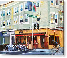 City Bike At Polk And Washington Acrylic Print by Colleen Proppe