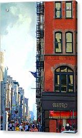 City Bistro Acrylic Print