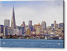 City By The Bay Acrylic Print by Sindi June Short