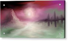 City By The Sea #2 Acrylic Print by Jessica Wright