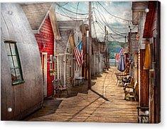 City - Canandaigua Ny - Shanty Town  Acrylic Print by Mike Savad