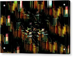 City Chaos #1 Acrylic Print by Renee Anderson
