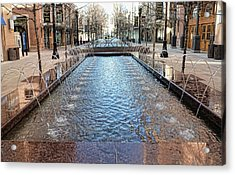 Acrylic Print featuring the photograph City Creek Fountain - 1 by Ely Arsha