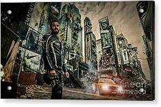 City Acrylic Print by Eugenio Moya