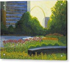 City Garden St. Louis Acrylic Print by Garry McMichael