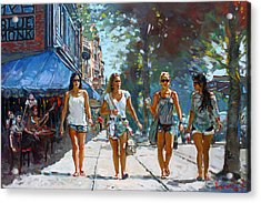 City Girls Acrylic Print by Ylli Haruni