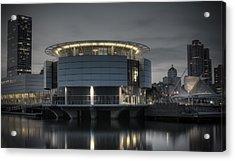 Acrylic Print featuring the photograph City Glare by Deborah Klubertanz