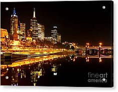 City Glow Acrylic Print by Andrew Paranavitana