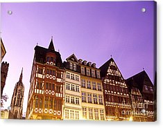 City Hall And Cathedral Frankfurt Germany Acrylic Print by Ryan Fox