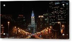 City Hall At Night Acrylic Print